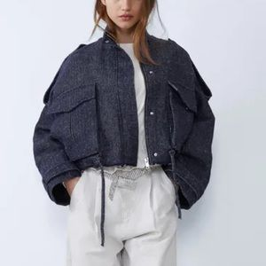 Zara Heringbone oversized Jacket